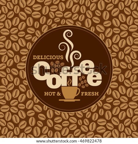 Coffee design template, creative vector