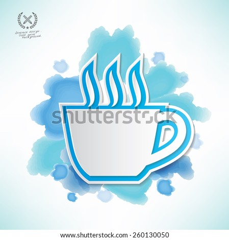 Coffee design,water colour design,clean vector - stock vector