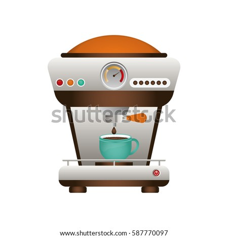 Coffee drink machine icon vector illustration graphic design