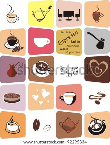 Coffee. Elements for design. Vector illustration. - stock vector
