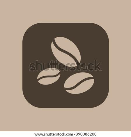 coffee grains icon - stock vector