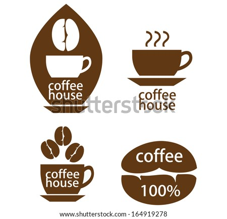 Coffee house design  elements. - stock vector