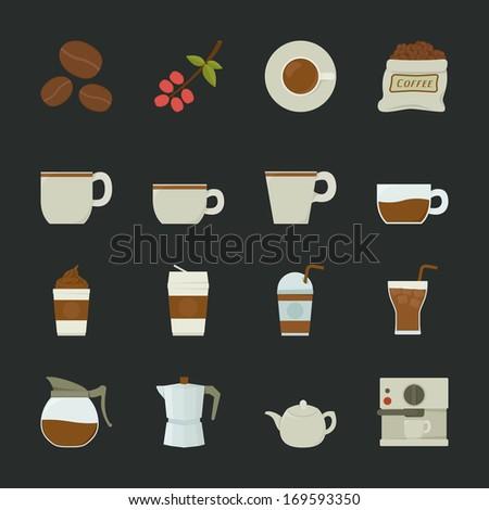Coffee icon, eps10 vector format - stock vector