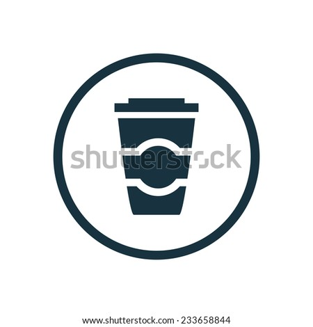 coffee icon on white background  - stock vector