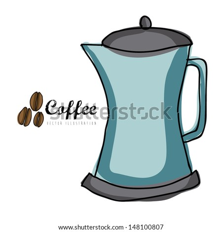 coffee icon over white background vector  illustration
