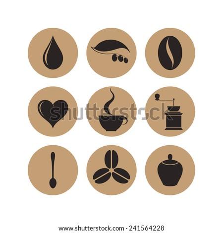 Coffee. Icon set   - stock vector