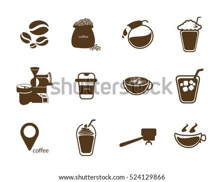 Coffee Icon Vector Stock 524129866