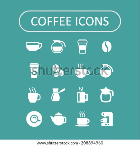 Coffee icons for web - stock vector