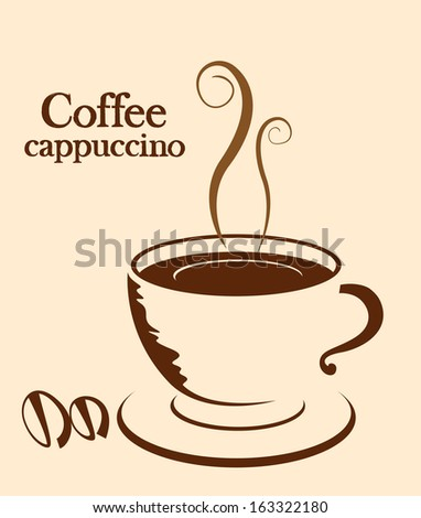 Coffee label background for your text - stock vector