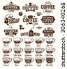Coffee Label, logo and menu - stock vector