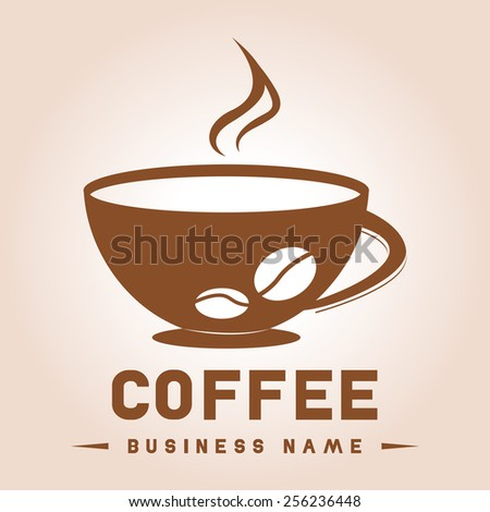 Coffee Logo, cafe cup vector design