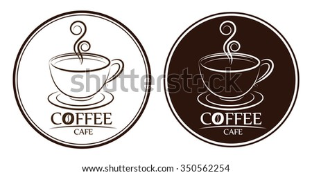 coffee logo, labels, design templates - stock vector