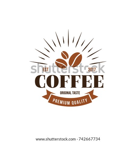 Coffee Logo Vintage Style. Flat Isolated Vector Graphic Illustration
