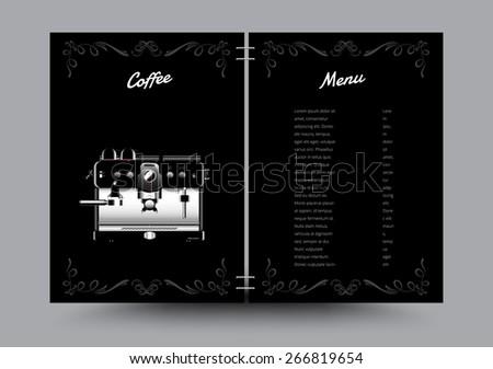 Coffee machine menu list. vector illustration. - stock vector