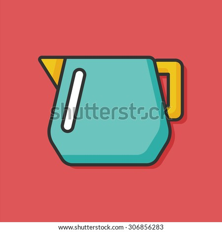Coffee Maker Kettle Color Line Icon Stock Vector 306856283 ...