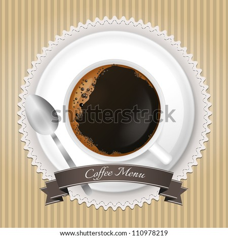 Coffee menu background