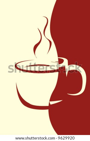coffee menu design - stock vector