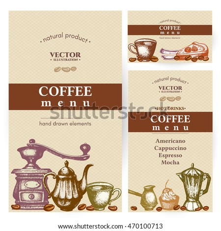 Coffee Menu Design Vintage, Template Restaurant Brochure Vector, Coffee Shop  Menu Design.
