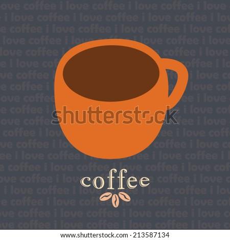 Coffee mug vector design template - stock vector