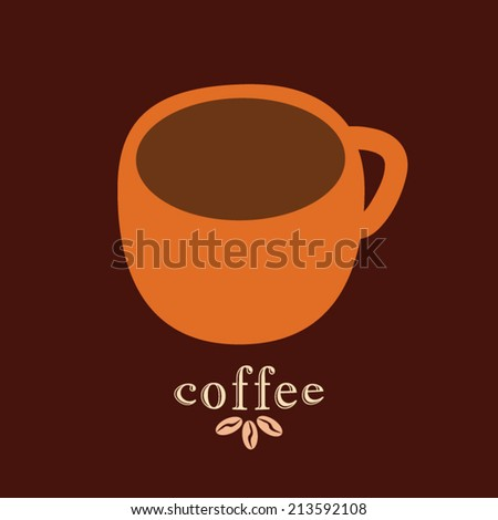 Coffee mug vector design template  - stock vector