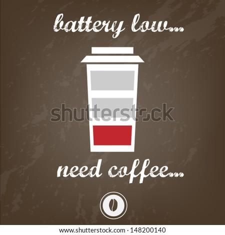 coffee need - stock vector