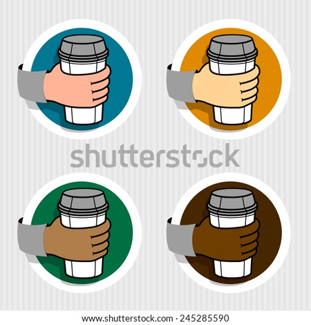 Coffee on the GO, simple - stock vector