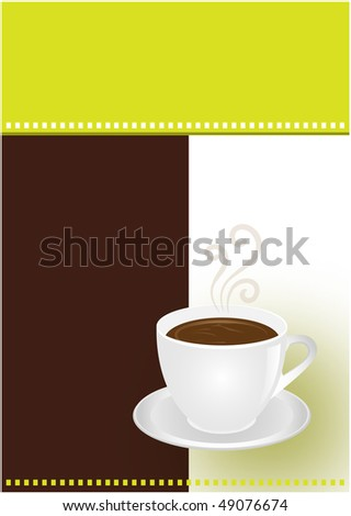 Coffee or chocolate cup - stock vector