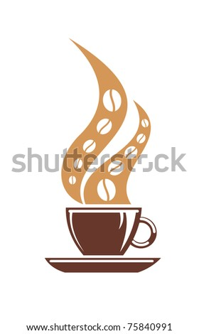 Coffee or tea symbol. Jpeg version also available in gallery - stock vector