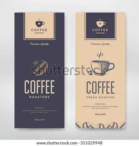 Coffee Packaging Design. Vector template package for your design. - stock vector