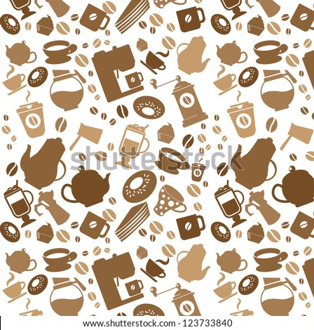 Coffee pattern - stock vector