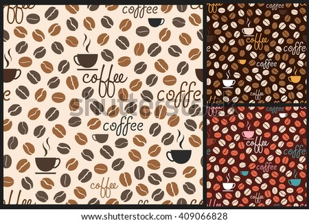 coffee pattern, coffee background, coffee beans pattern, coffee vector, seamless pattern, coffee pattern, coffee design, coffee background, vector pattern, cafe pattern, coffee menu - stock vector