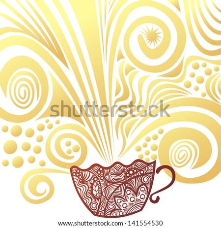 Coffee pattern vector illustration - stock vector