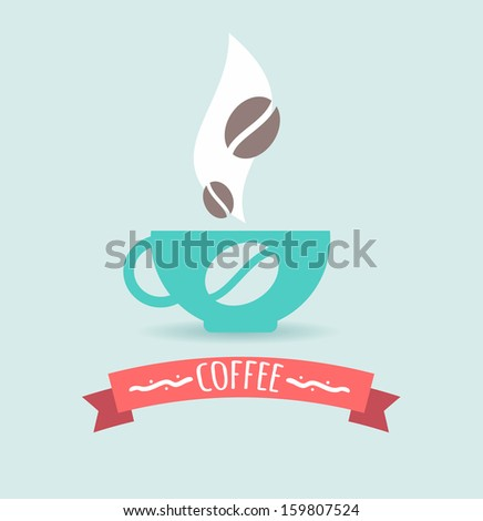 Coffee. Poster. - stock vector
