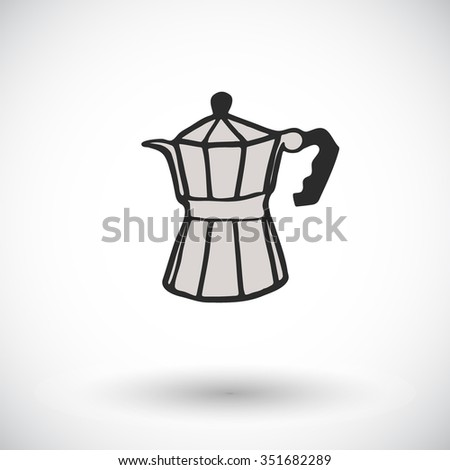Coffee Pot Sketch Handdrawn Cartoon Coffee Stock Photo (Photo ...
