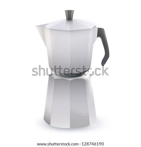 Coffee pot. Vector design - stock vector