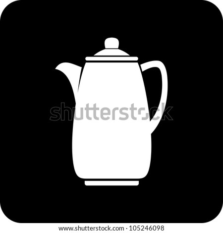 Coffee pot - Vector icon isolated