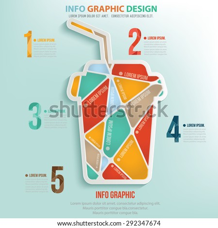 Coffee puzzle info graphic design,clean vector - stock vector