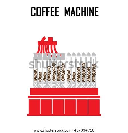 coffee roaster machine vector illustration. - stock vector