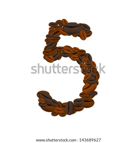 Coffee seamless background number with media icons