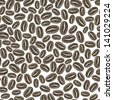 Coffee seamless background. Vector - stock vector