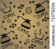coffee seamless pattern in vector - stock vector