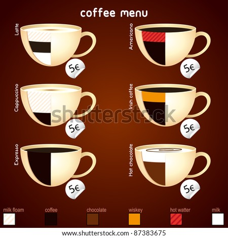 Coffee set - stock vector