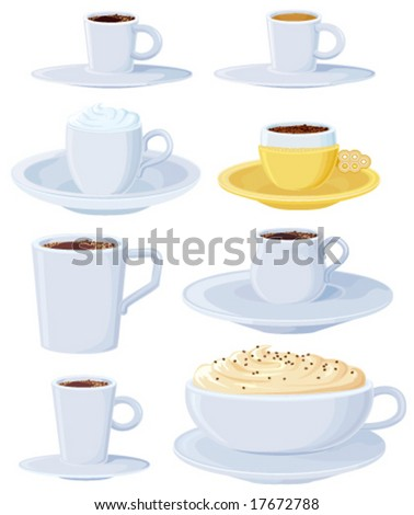 Coffee set light blue