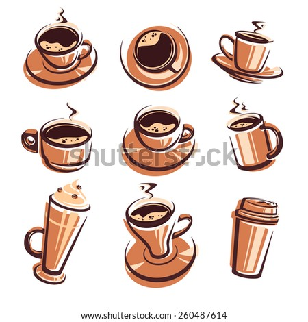 Coffee set. Vector - stock vector