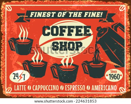 Coffee shop background. Vector illustration.