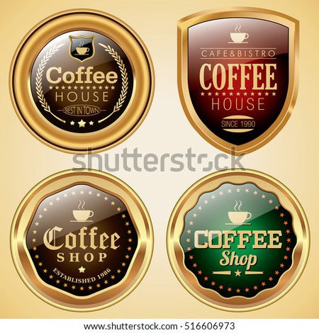 Coffee Shop badges