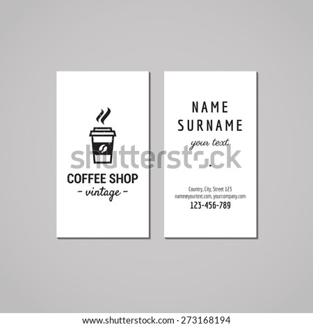Hipster Coffee Shop Logos Coffee Shop Logo With Take