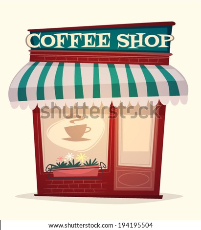 Coffee shop house. Vector image - stock vector