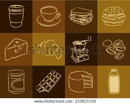 Coffee Shop Icon Set - stock vector