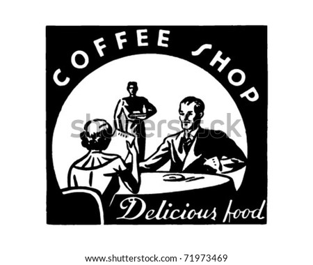 Coffee Shop - Retro Ad Art Banner - stock vector